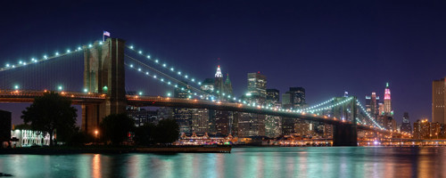 Brooklyn Bridge panorama Wallpape