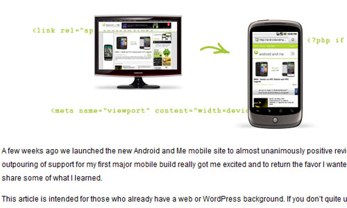 Making your WordPress blog Android and iPhone friendly