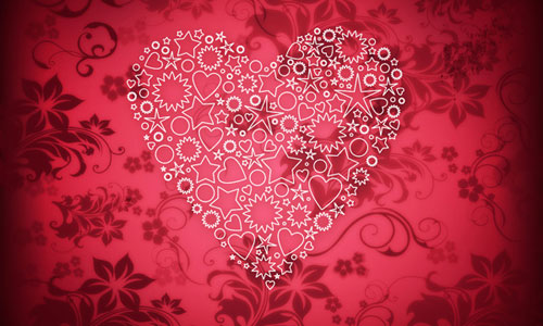 How to create elegant Valentine's Day card with ornamental heart in Photoshop CS5