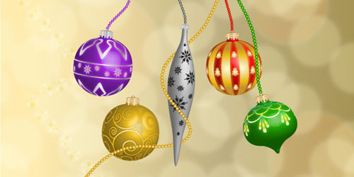 Vector 3D Christmas Bells
