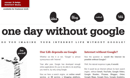 One Day without Google