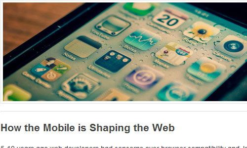 Designing a Mobile Stylesheet for your Website