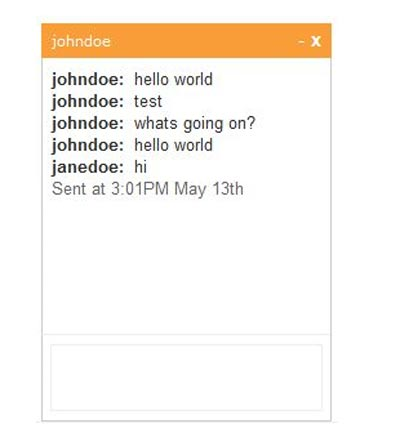 Gmail/Facebook Style jQuery Chat