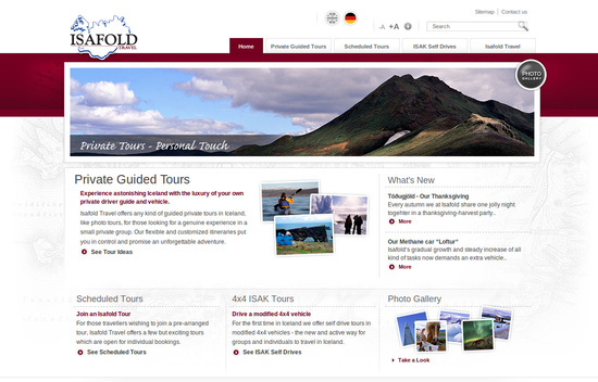Showcase of Web Design in Iceland