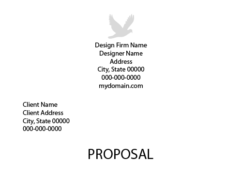 Graphic Design Project Proposal Template  Graphic Design Proposal Example